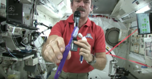 How to brush your teeth in space